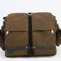 RUSH R6713 Canvas DSLR Camera Bag Shoulder Messenger Bag - Brown